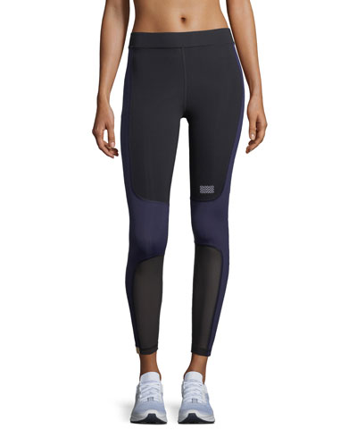 Sprinter Full-Length Colorblocked Leggings with Mesh