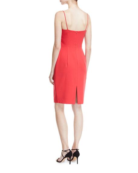 Brishten Fold-Over Spaghetti-Strap Dress