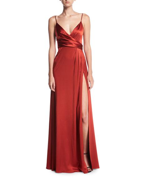 Jill Jill Stuart Sleeveless Satin Slip Gown