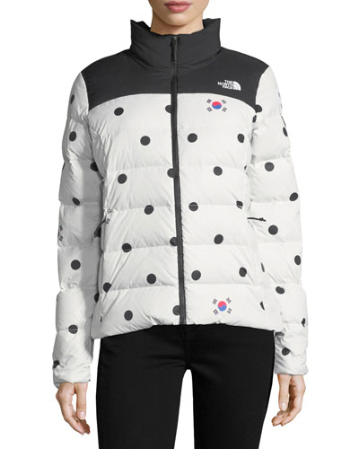Nuptse Relaxed Full-Zip Jacket w/ Dot Print