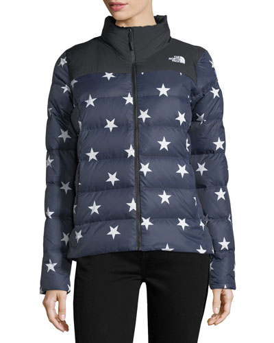 Nuptse Relaxed Full-Zip Jacket w/ Star Print