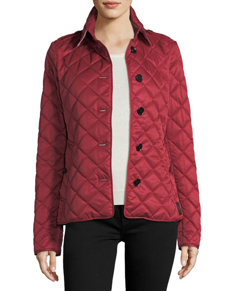 Burberry Frankby Quilted Jacket, Parade Red | Neiman Marcus : red burberry quilted jacket - Adamdwight.com