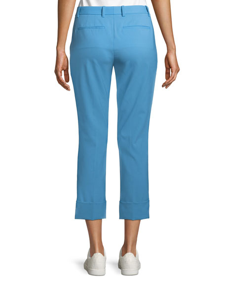 New Stretch-Wool Crop Cuff Straight-Leg Pants