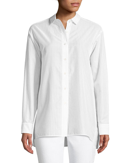 Lafayette 148 New York Everson Karma-Stripe Blouse