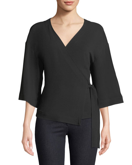 Elevated Rosina Crepe Wrap Top