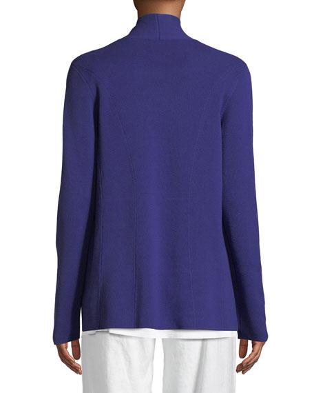 Eileen Fisher Silk-Blend Interlock Open-Front Jacket