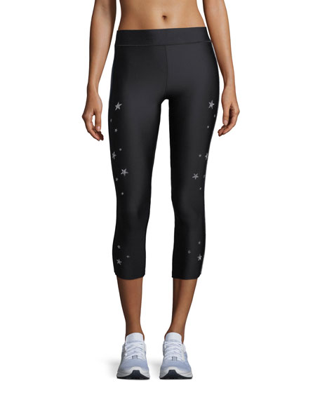Swarovski® Star Varsity Cropped Leggings
