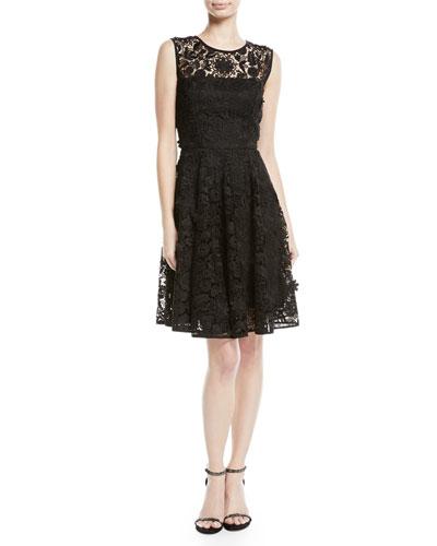 Becky 3D Lace A-Line Dress