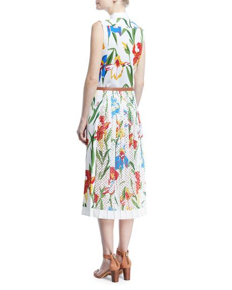 Carine Floral-Print Sleeveless Dress