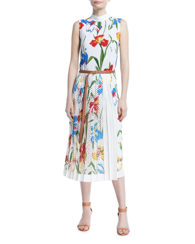 Carine Fl Print Sleeveless Dress