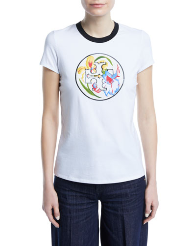 Abigail Floral-Logo T-Shirt