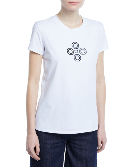 Geometric Short-Sleeve Jersey T-Shirt