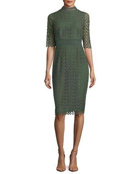 Olivie Lace-Circle Sheath Dress