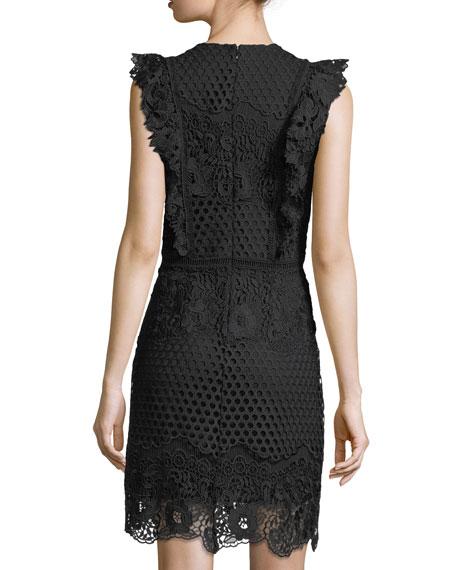 Poppy Lace Cap-Sleeve Dress