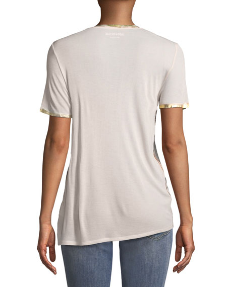 Tino V-Neck Short-Sleeve Foil T-Shirt
