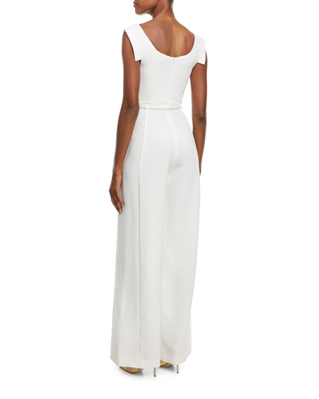 Jackie Asymmetric Belted Jumpsuit