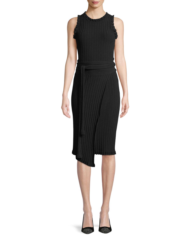 6af260b0a4 Milly Ruffled Tie-Waist Wrap Dress