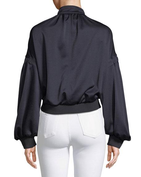 Zip-Front Pique Track Jacket