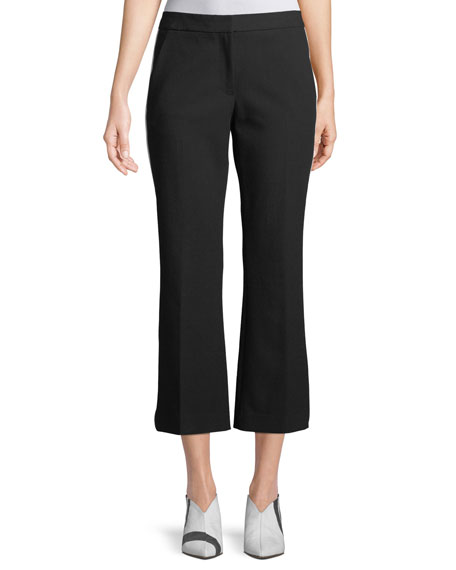 Anson Crop Crepe Pants w/ Tux Stripe