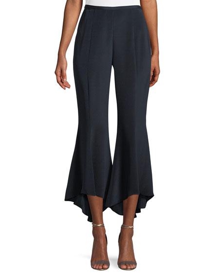 Kobi Halperin Alina Silk Flare Crop Pants