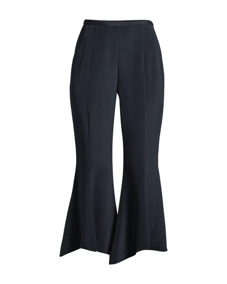 Alina Silk Flare Crop Pants