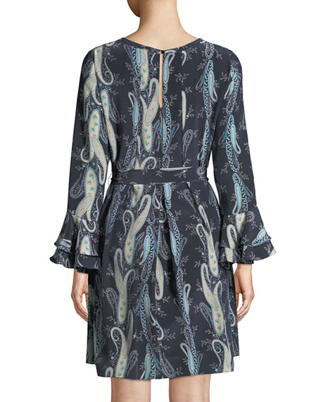Kirsten Paisley-Print Shift Dress