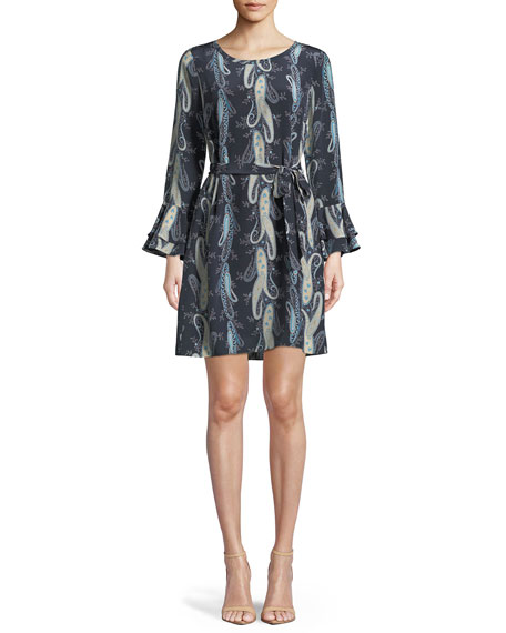 Kobi Halperin Kirsten Paisley-Print Shift Dress