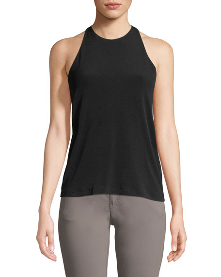 Image 1 of 2: Halter-Neck Cut-In Camisole Tank