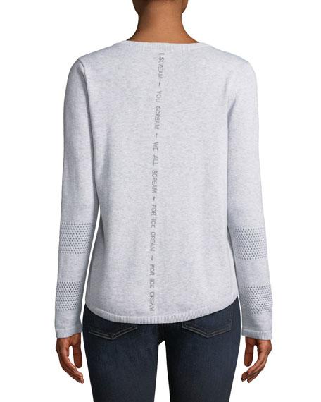 Lickety Split Ice Scream Intarsia Sweater