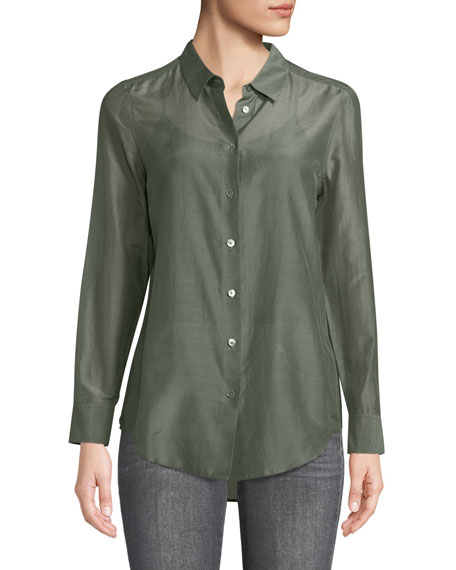 Equipment Essential Button-Front Egyptian-Cotton Shirt