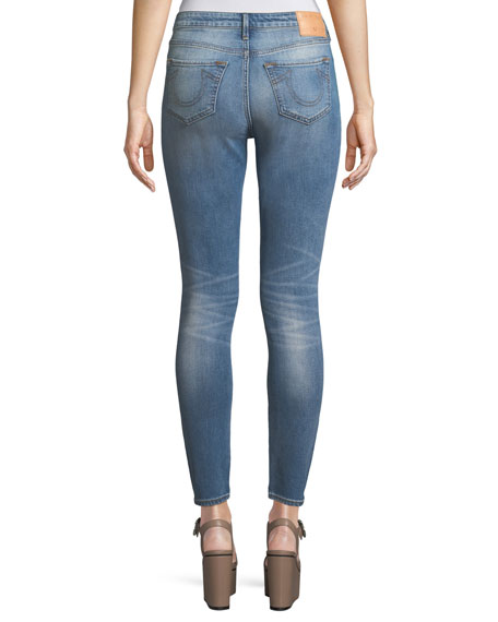 Halle High-Rise Distressed Super Skinny-Leg Jeans