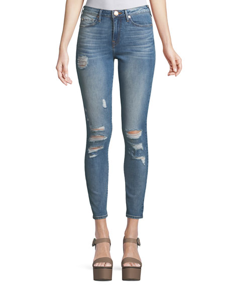 True Religion Halle High-Rise Distressed Super Skinny-Leg Jeans