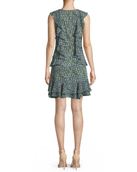 Wild Flower Cascade-Ruffle Dress