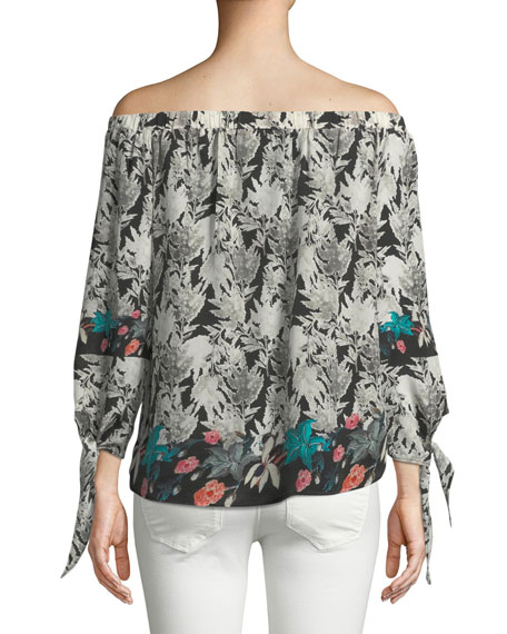 Nyala Off-the-Shoulder Silk Top