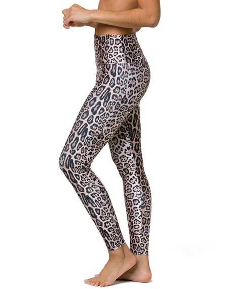 Image 3 of 4: Onzie High-Rise Leggings, Leopard