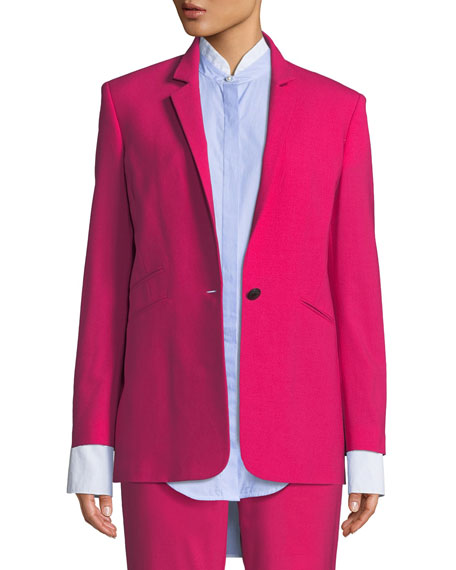Ridley Notched-Lapel Blazer Jacket