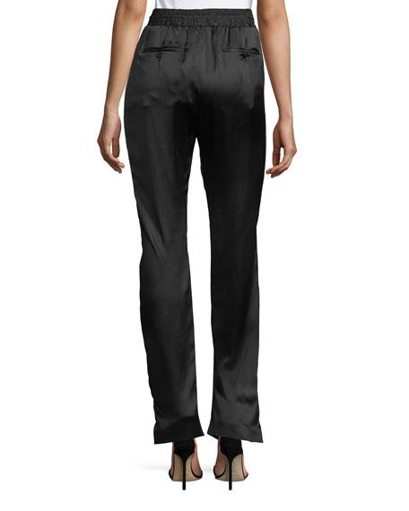Tanley Silk Side-Striped Jogger Pants