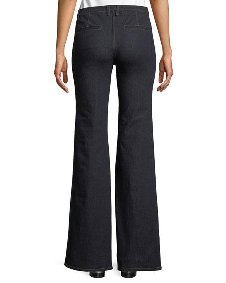 Demitria 2 D Movement Dark-Wash Flare Stretch-Denim Jeans