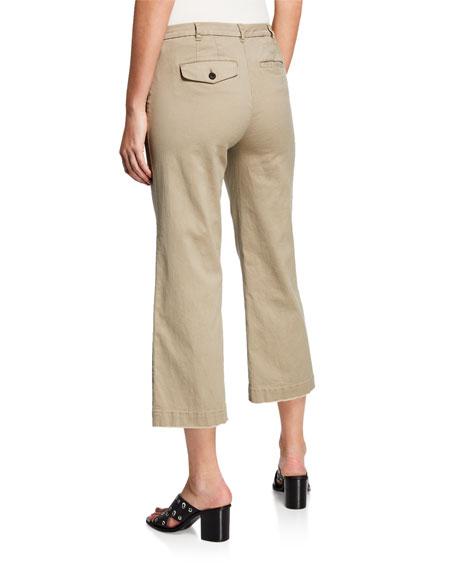 Cropped Boyfriend Wide-Leg Pants