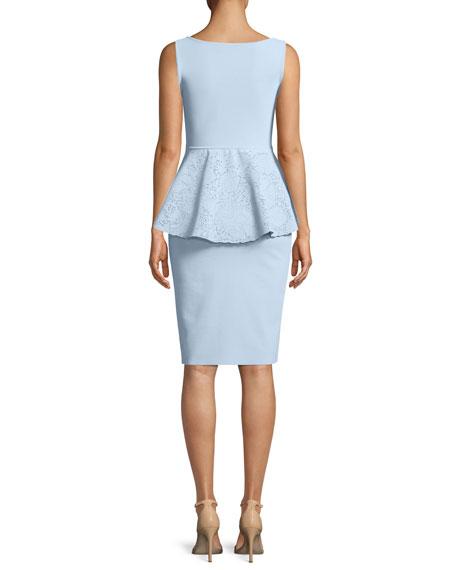 Imma Sleeveless Peplum Sheath Cocktail Dress