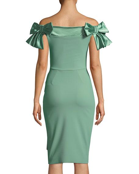 Marita Off-the-Shoulder Bow Dress