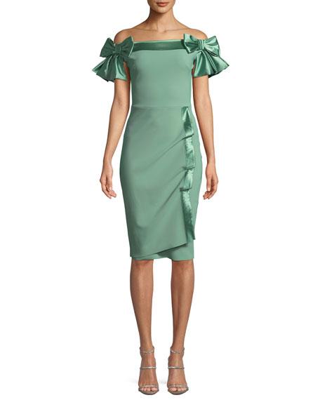 Chiara Boni La Petite Robe Marita Off-the-Shoulder Bow