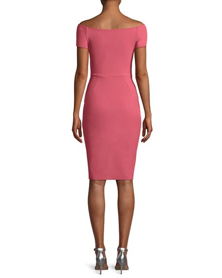 Heather Sheath Short-Sleeve Dress