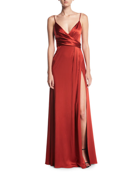 Jill Jill Stuart Sleeveless Satin Slip Gown
