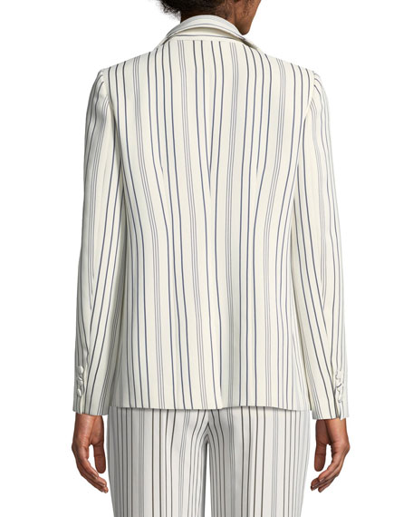 True Stripe One-Button Blazer