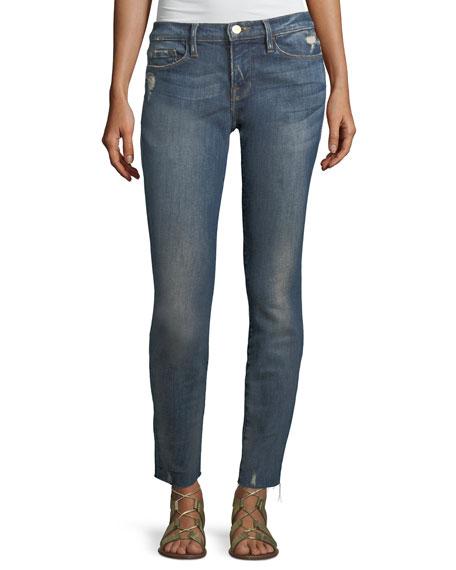FRAME Le Skinny de Jeanne Low-Rise Jeans w/