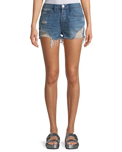 W4 Carter Distressed Denim Cutoff Shorts