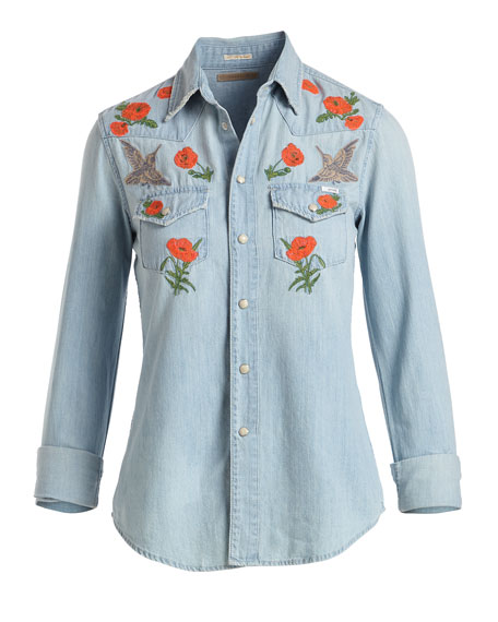 All My Exes Button-Down Denim Shirt