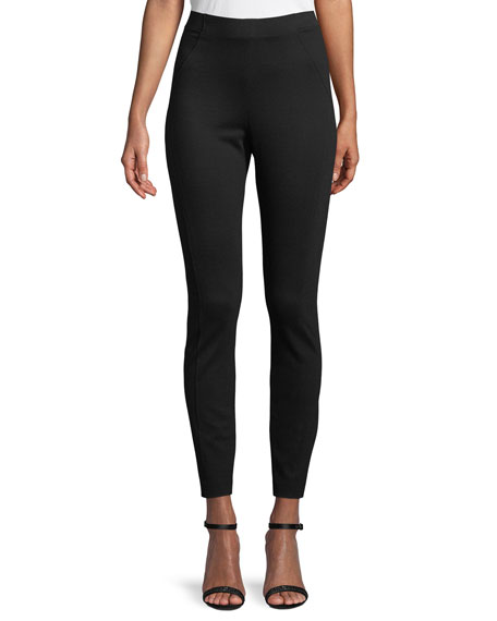 Elie Tahari Trina High-Waist Double-Knit Pants