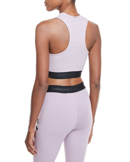 High-Neck Racerback Fitted Crop Top